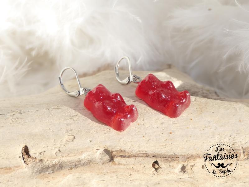 bonbon ours rouge