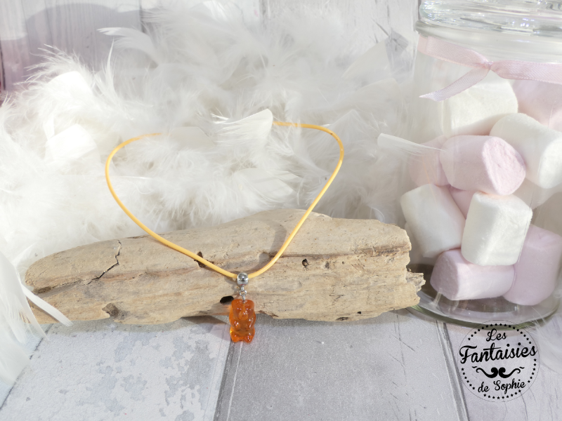collier ours orange