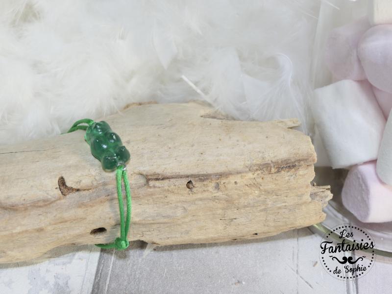 bracelet ours vert
