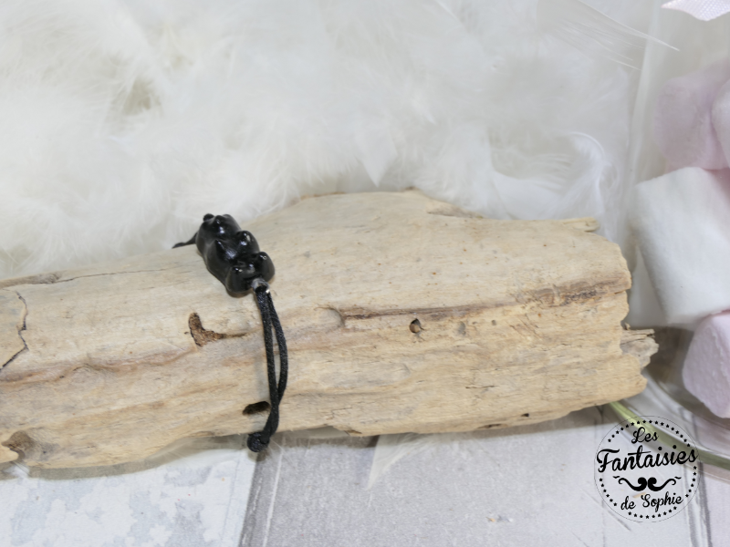bracelet ours noir