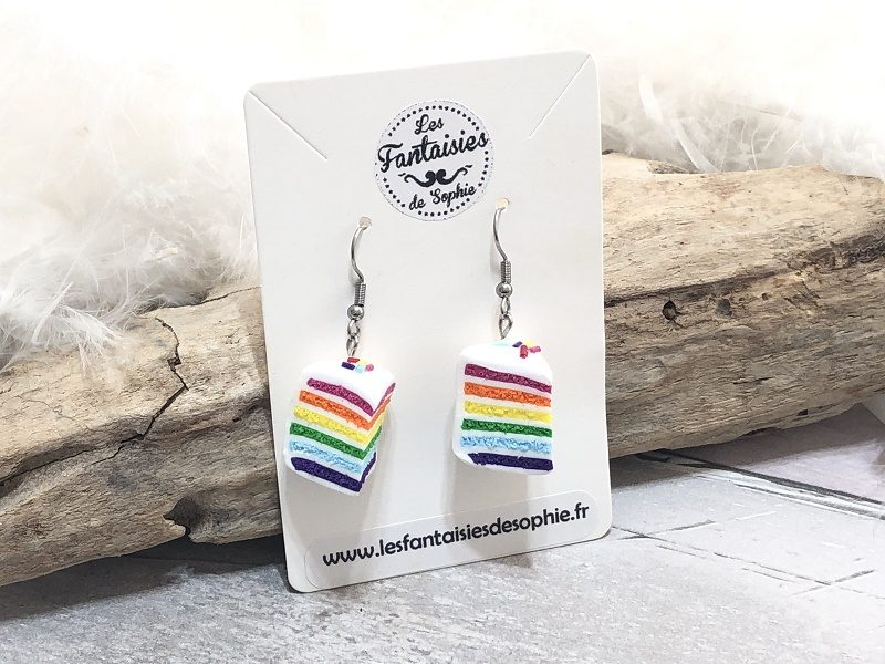 rainbow cake fimo