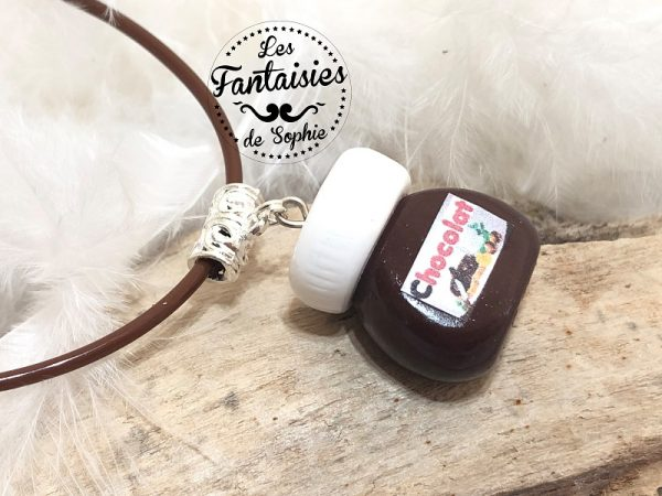 nutella fimo collier pot de pâte à tartiner