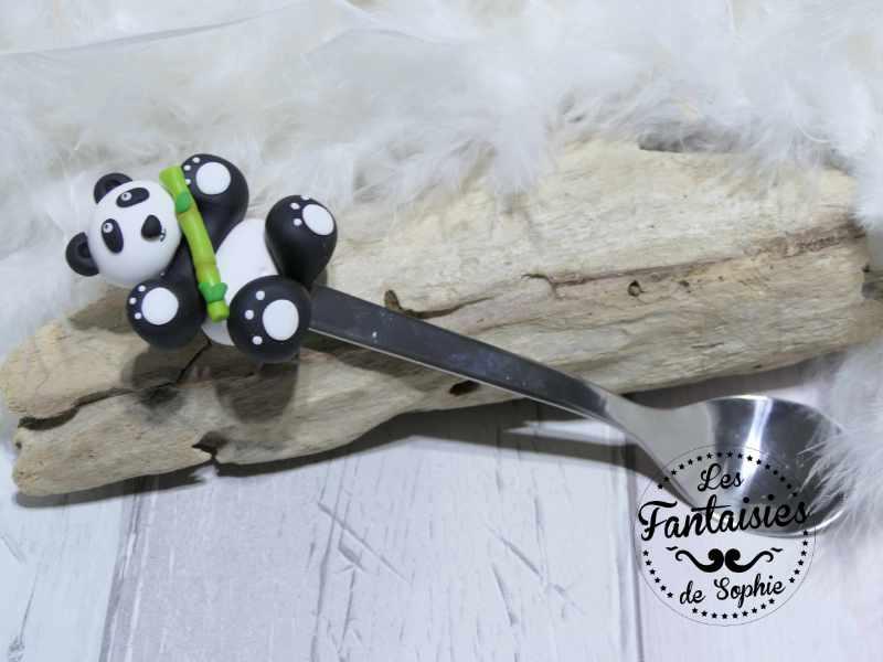 cuillère panda fimo
