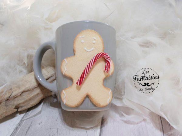 mug biscuit de noël gris