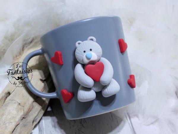 mug ourson gris clair