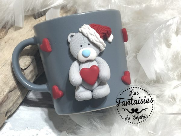 tasse ours gris clair