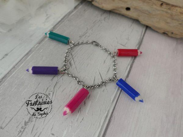bracelet 5 crayons