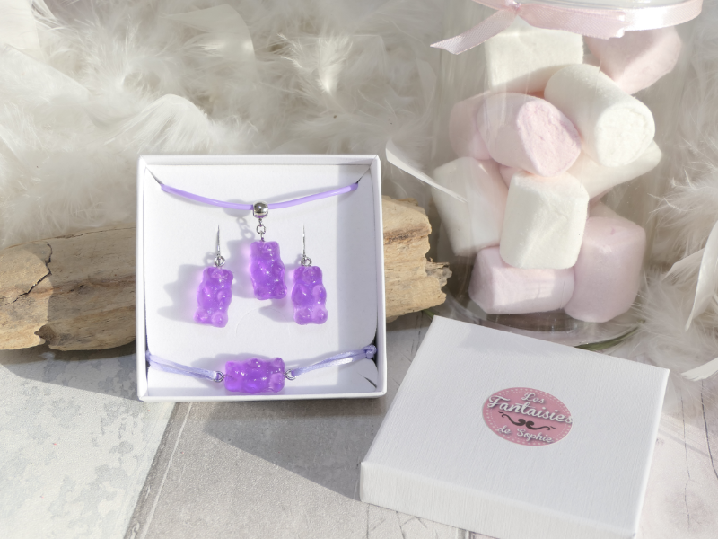 parure ours violet