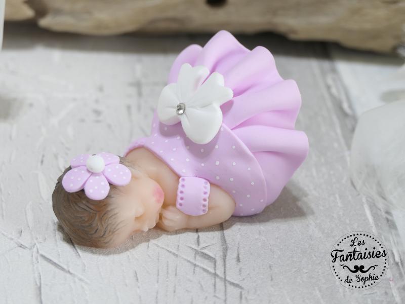 bebe rose blanc fimo
