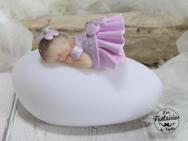 veilleuse bebe gris rose